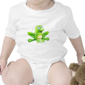 Mascota de la rana camisetas
