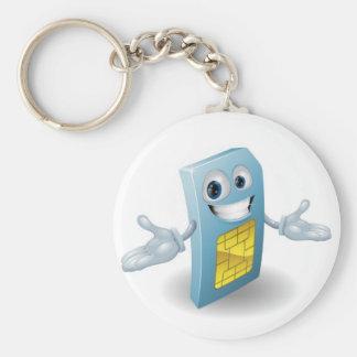 Mascota de la tarjeta del sim del teléfono móvil llavero