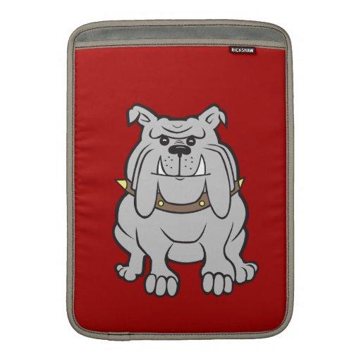 Mascota de los dogos en los regalos rojos del aman funda para macbook air
