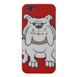 Mascota de los dogos en los regalos rojos del aman iPhone 5 carcasas