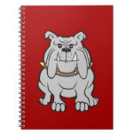 Mascota de los dogos en los regalos rojos del aman libro de apuntes