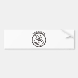 Mascota de los gatos monteses etiqueta de parachoque