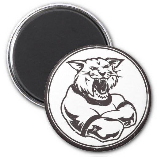 Mascota de los gatos monteses imán de nevera