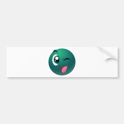 Mascota de los juegos del bingo del juego pegatina para auto