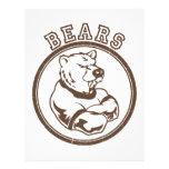Mascota de los osos membrete a diseño