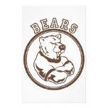 Mascota de los osos  papeleria