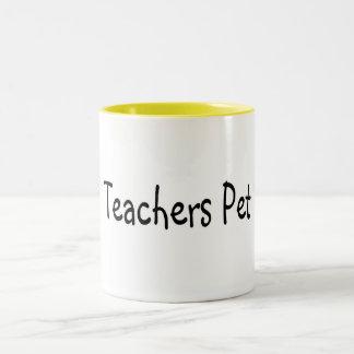 Mascota de los profesores taza de dos tonos