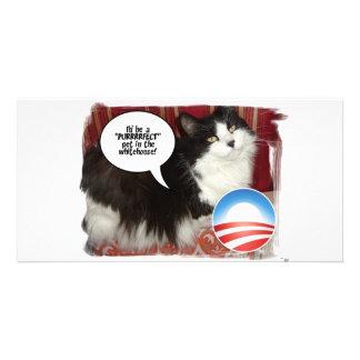 Mascota de Obama/humor político Tarjeta Personal