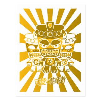Mascota de Tiki Tarjeta Postal