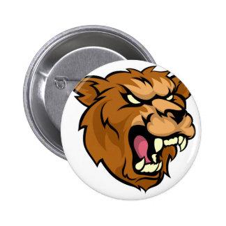 Mascota del animal del medio del grisáceo del oso pin redondo de 2 pulgadas