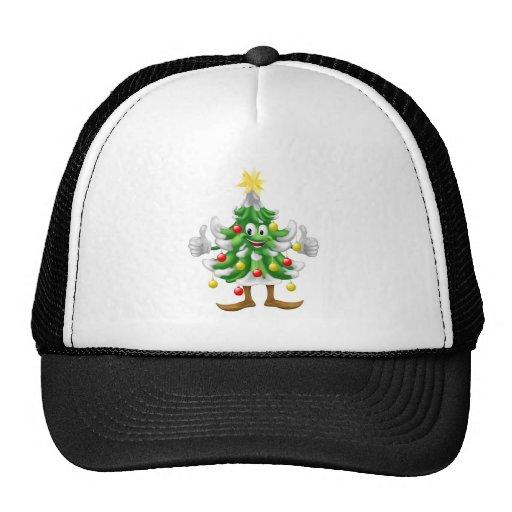 Mascota del árbol de navidad que hace los pulgares gorros bordados