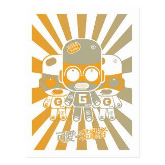 Mascota del artilugio tarjetas postales