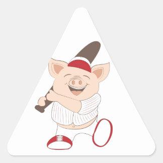 Mascota del béisbol pegatina triangular