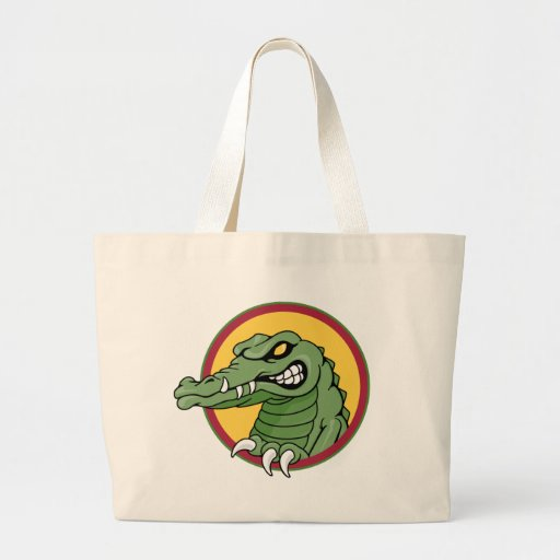 Mascota del cocodrilo bolsa tela grande