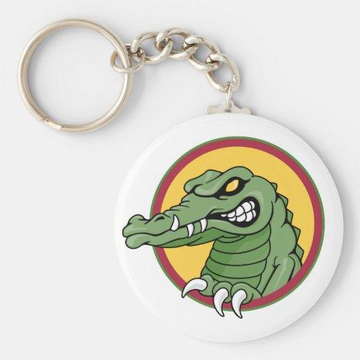 Mascota del cocodrilo llavero personalizado