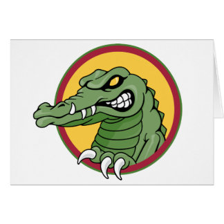 Mascota del cocodrilo tarjeta de felicitación