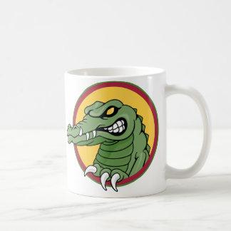 Mascota del cocodrilo taza