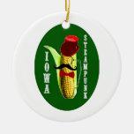 mascota del corncob del steampunk de Iowa Ornamento De Reyes Magos
