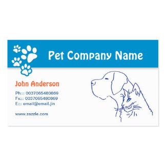Mascota del cuidado de animales de compañía plantilla de tarjeta personal