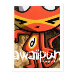 Mascota del demonio tarjeta postal