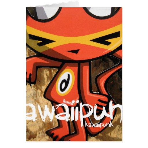 Mascota del demonio tarjeton