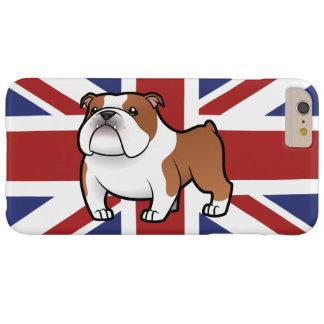 Mascota del dibujo animado con la bandera funda para iPhone 6 plus barely there