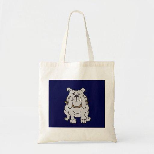 Mascota del dogo en azul bolsa de mano