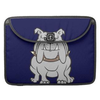 Mascota del dogo en azul funda para macbooks