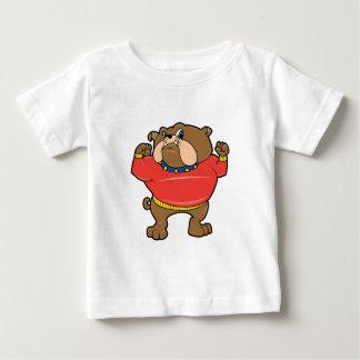 Mascota del dogo playera de bebé