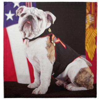 mascota del funcionario de la marina de guerra del servilletas de papel