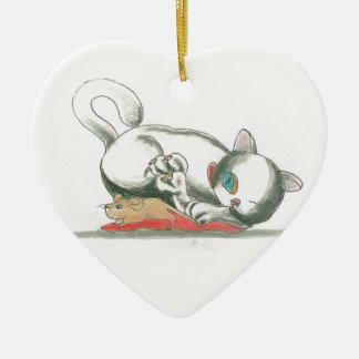 Mascota del gato y del ratón TOWT Ornamento De Reyes Magos