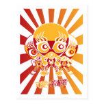 Mascota del luchador tarjetas postales