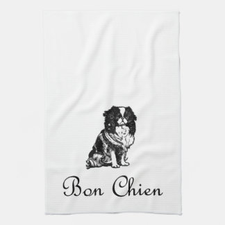 Mascota del perro de Chien del Bon del vintage bue Toalla De Cocina