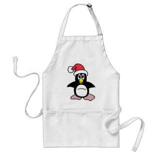 Mascota del pingüino de Santa Delantal