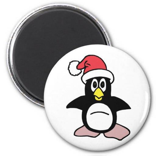 Mascota del pingüino de Santa Imán Para Frigorifico