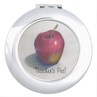 ¡Mascota del profesor del ESPEJO COMPACT_ ELEGANTE Espejos De Maquillaje
