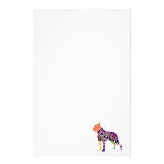 Mascota del remiendo de Boston Terrier inmóvil Papeleria De Diseño