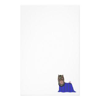 Mascota del remiendo de Yorkshire Terrier inmóvil Papeleria Personalizada