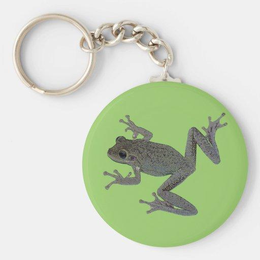 Mascota del sapo llavero redondo tipo pin