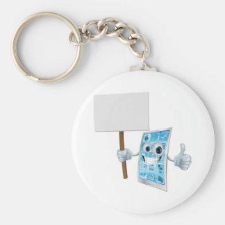 Mascota del teléfono móvil que lleva a cabo la mue llaveros personalizados