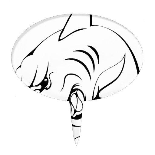 Mascota del tiburón decoración de tarta
