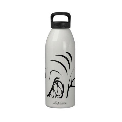 Mascota del tiburón botella de agua