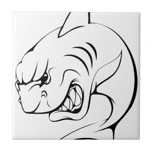 Mascota del tiburón azulejo