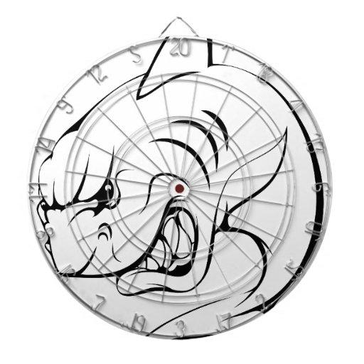 Mascota del tiburón tablero de dardos