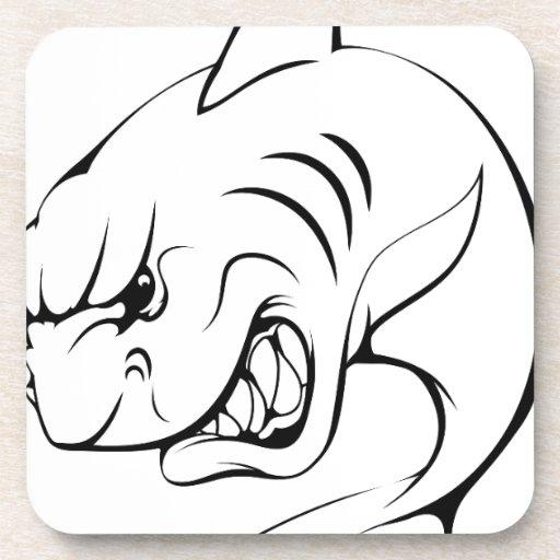 Mascota del tiburón posavasos de bebidas