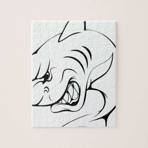 Mascota del tiburón rompecabezas con fotos