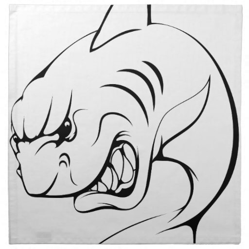 Mascota del tiburón servilletas