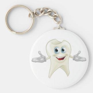 Mascota dental del diente lindo llaveros personalizados