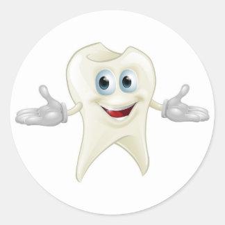 Mascota dental del diente lindo pegatina