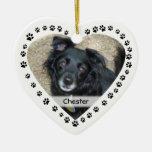 Mascota en forma de corazón personalizado de la adorno para reyes
